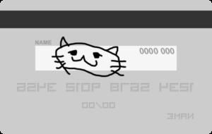 クレジットカードサインの絵見本
