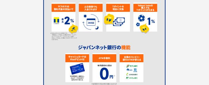 Yahoo ジャパンネット銀行 連携